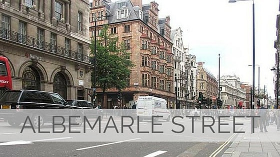 Learn To Say Albemarle Street?
