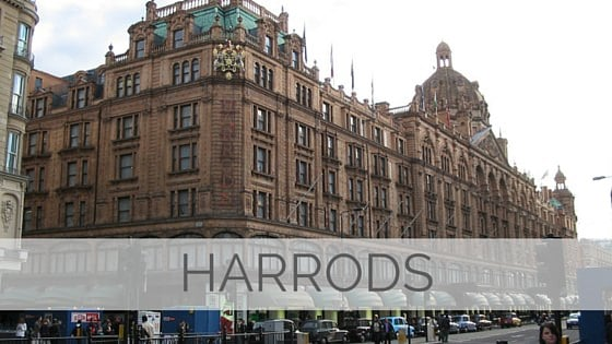 Learn To Say Harrods?