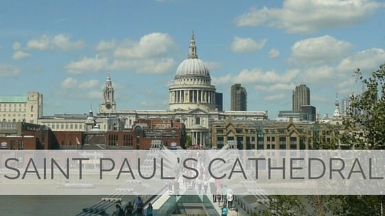 Learn To Say Saint Paul's Cathedral?