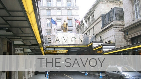 Learn To Say The Savoy?