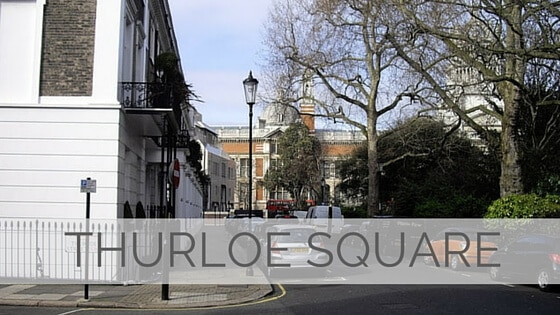 Learn To Say Thurloe Square?