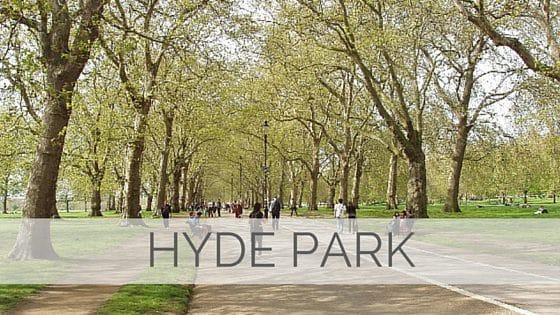 Learn To Say Hyde Park?