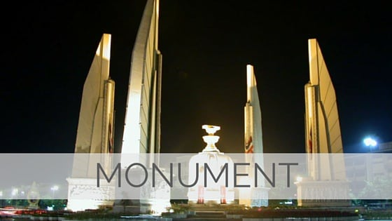 Learn To Say Monument?