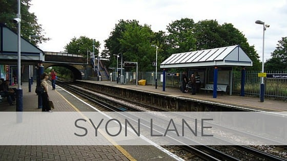 Learn To Say Syon Lane?