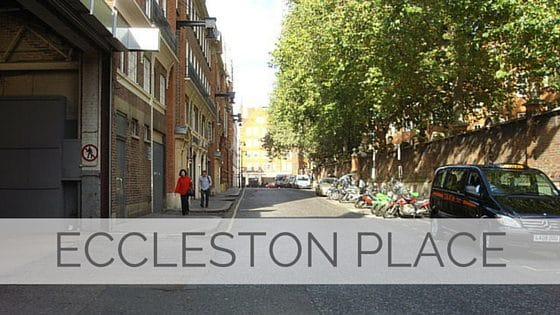 Learn To Say Eccleston Place?